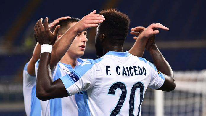 lazio-nizza ranking uefa europa league marusic caicedo
