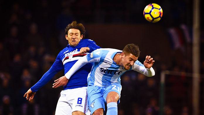 Savic e Caicedo fanno gol Lazio corsara con la Samp
