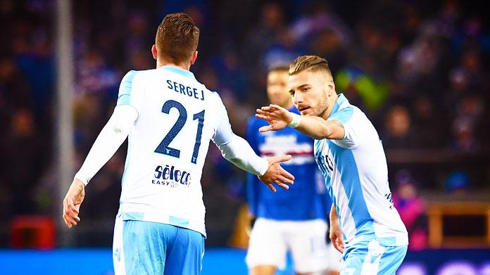 Lazio super in trasferta: 7 vittorie su 8. E Milinkovic…