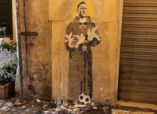 totti murales roma tottilatria