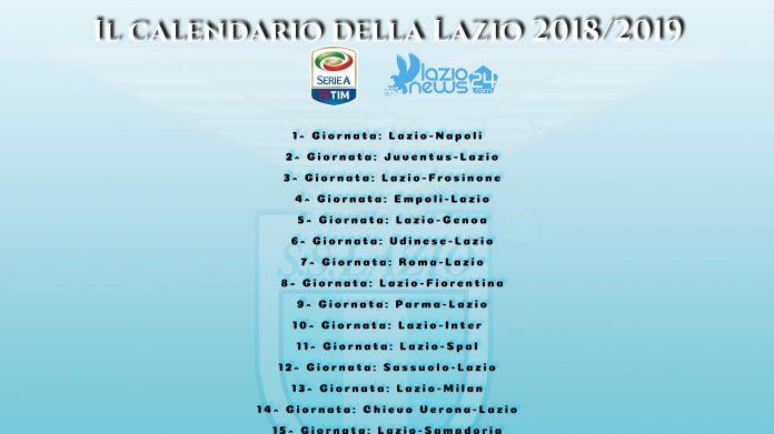 Calendario Serie A Seconda Giornata.Sorteggio Calendario Serie A 2018 2019 Lazio Napoli All