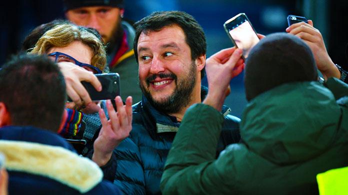Atalanta-Lazio Salvini
