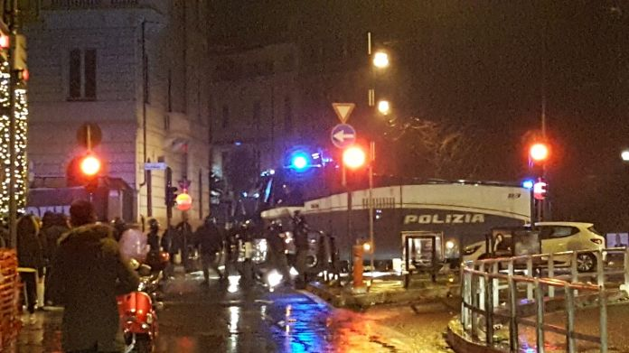 Scontri Lazio Polizia