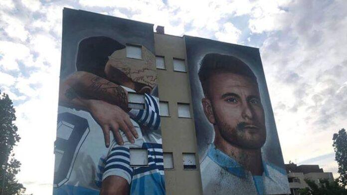Murales Immobile Ripulito Dopo L Atto Vandalico Foto Lazio News 24
