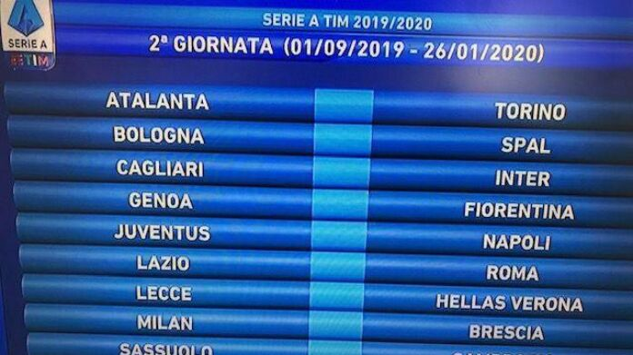 Calendario Seconda Giornata Serie A.Sorteggio Calendario Serie A 2019 2020 Sampdoria Lazio All