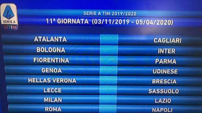 Calendario Serie B 2020 17.Sorteggio Calendario Serie A 2019 2020 Sampdoria Lazio All